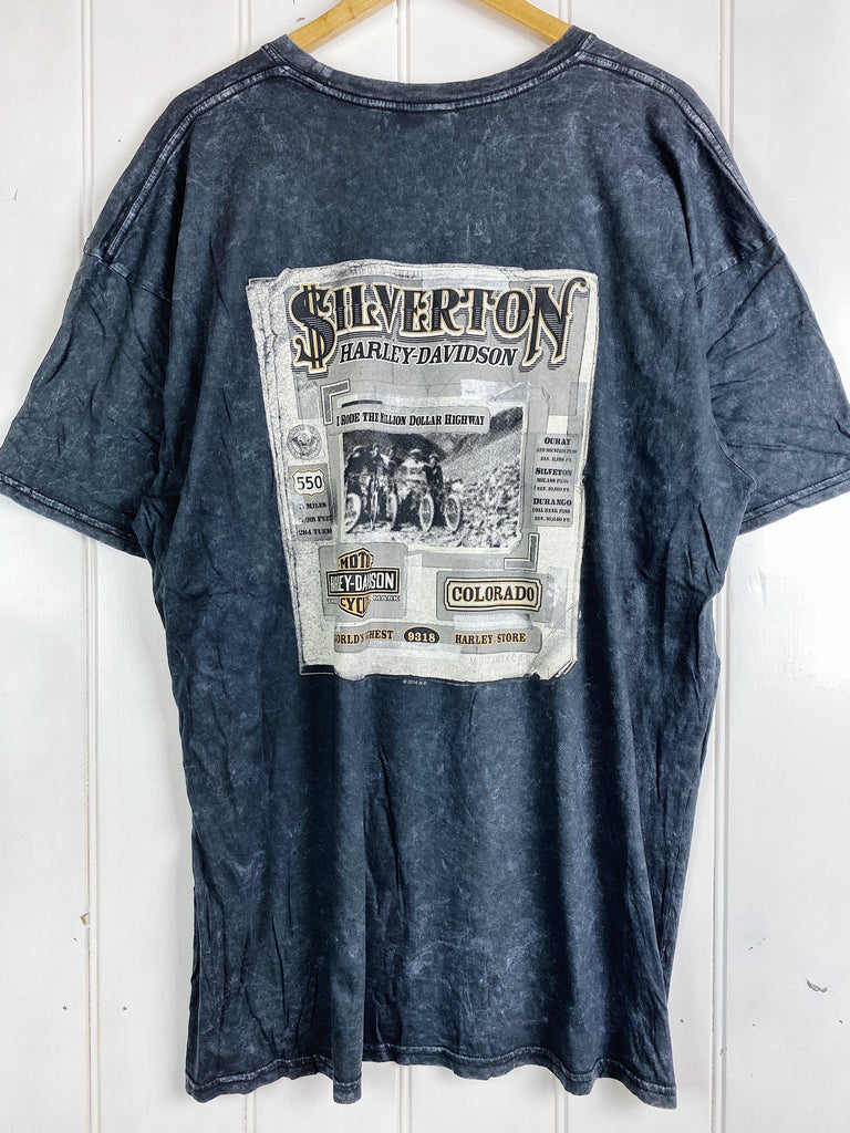 Preloved Harley - Silverton Acid Wash Tee - 2XLarge