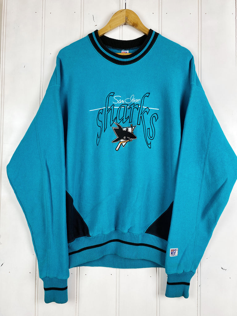 Vintage Sports - San Jose Sharks Blue Sweatshirt - Large