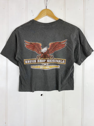 Originals Eagle Faded Black Cropped Tee