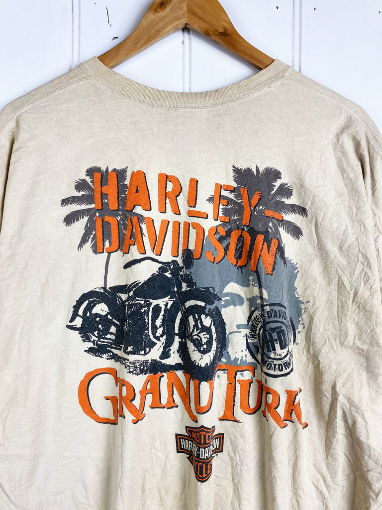 Preloved Harley - Grand Turk Biege Tee - 2XLarge