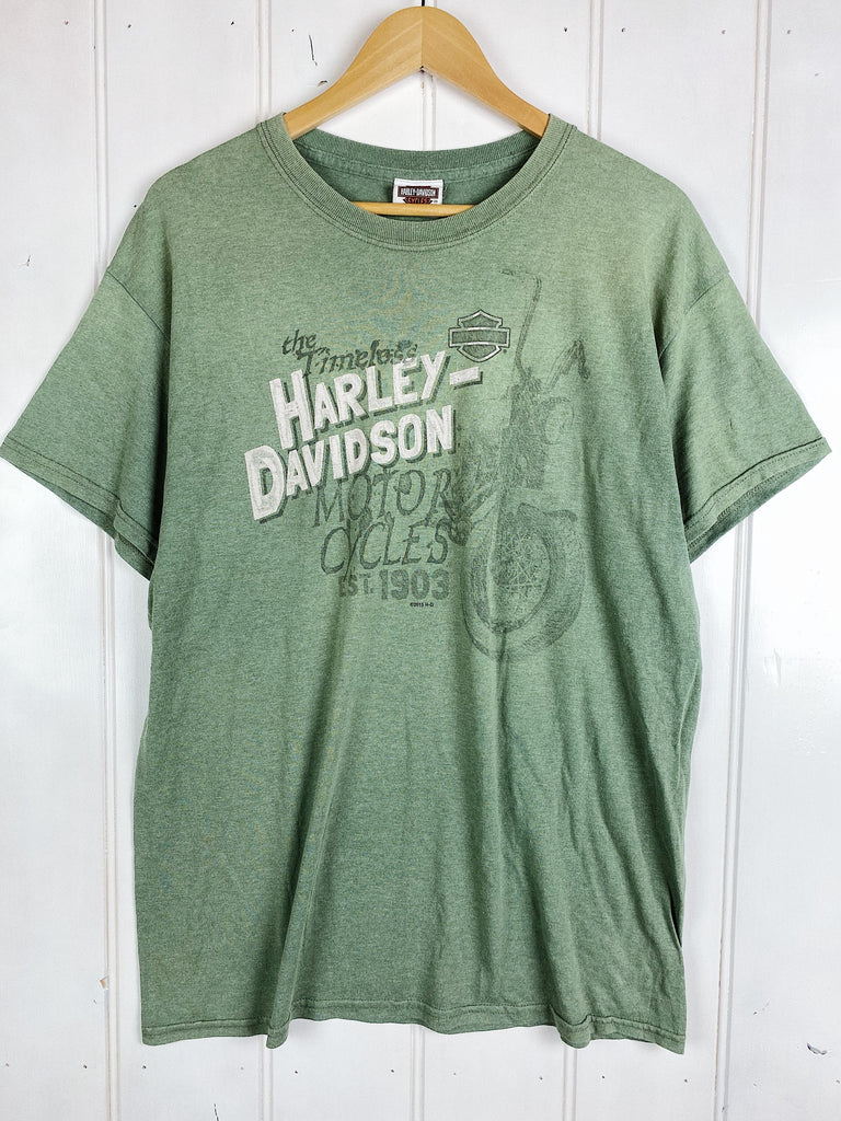 Preloved Harley - Timeless Green Tee - Large