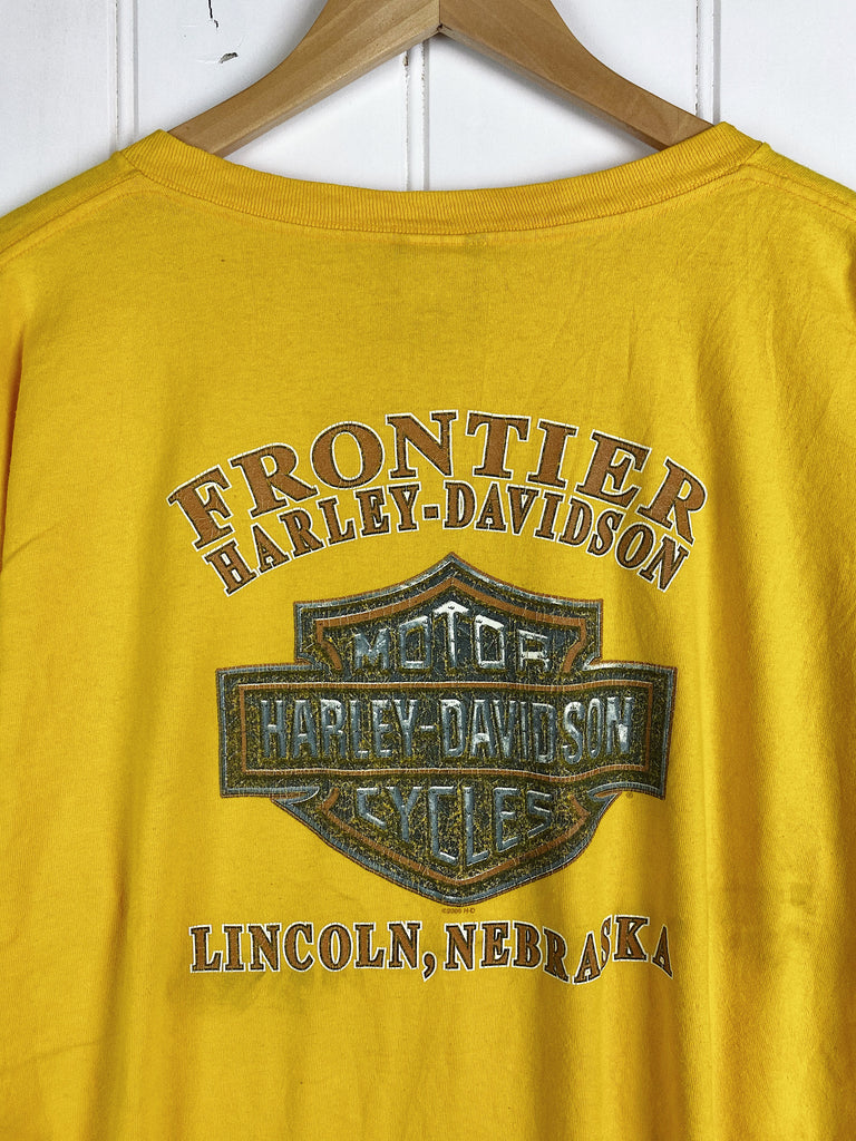 Preloved Harley - Fontier Yellow Tee - 2XLarge