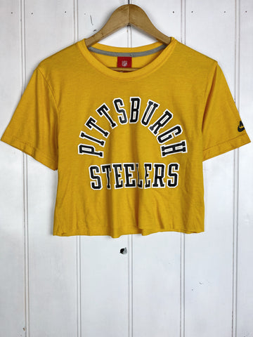 Preloved Sports - Steelers Yellow Cropped Tee - Medium