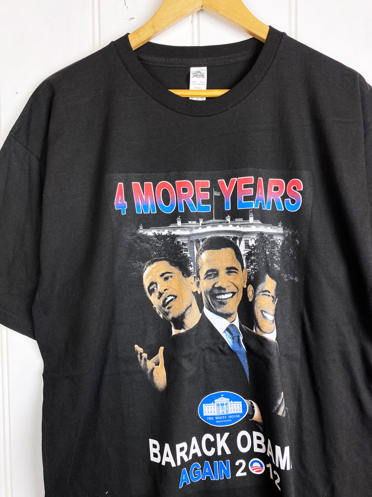 Preloved Pop Culture - Obama Black Tee - Large