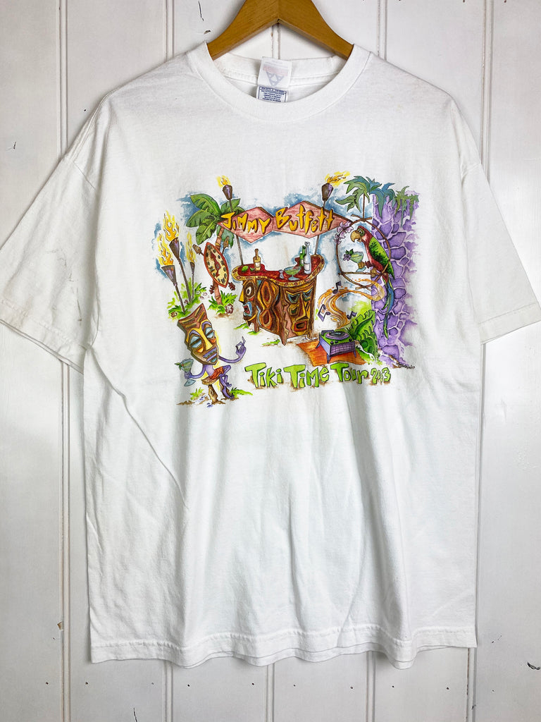 Vintage Music - Jimmy Buffet Tiki Time Tee - XLarge