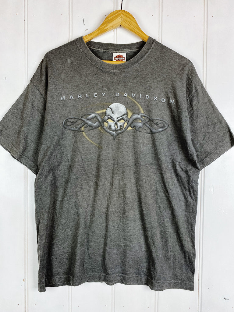 Vintage Harley - Vancouver Faded Black Tee - Large