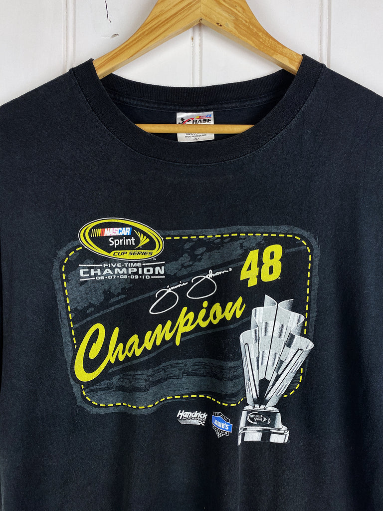 Preloved Nascar - Jimmie Johnson Champion Blue Tee - XLarge