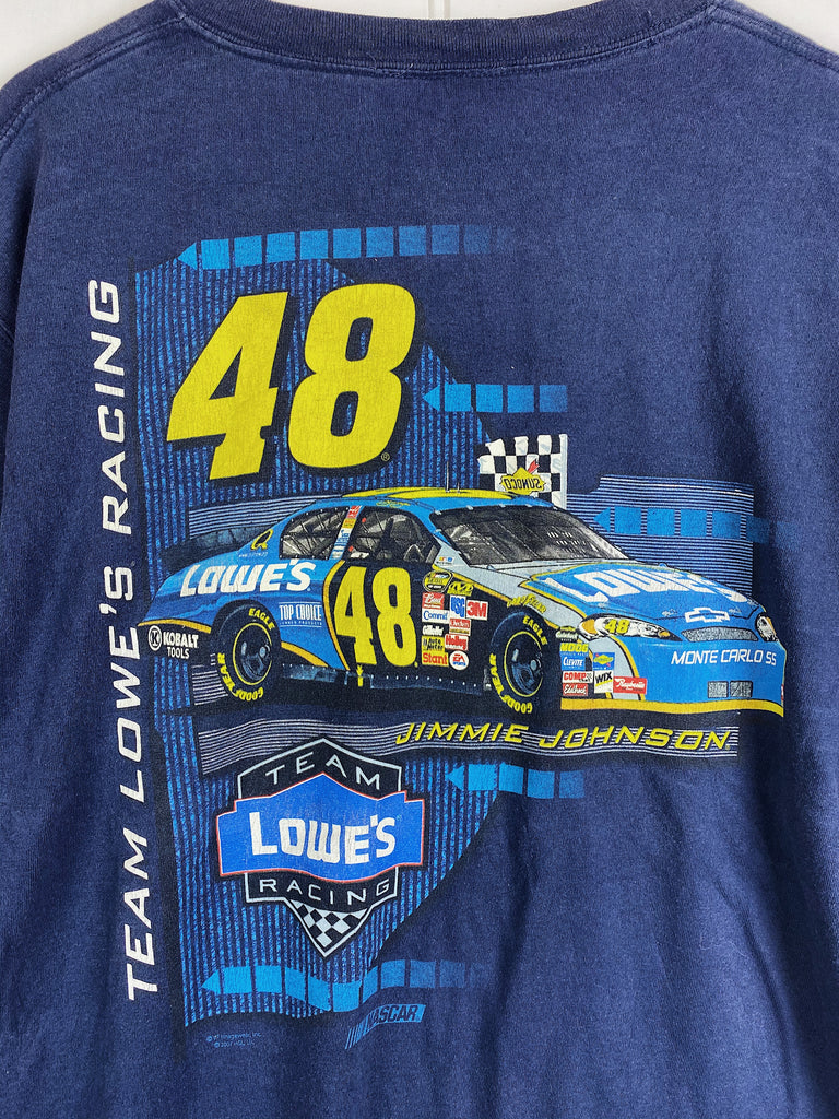 Preloved Nascar - Jimmie Johnson lowes navy Tee - XLarge