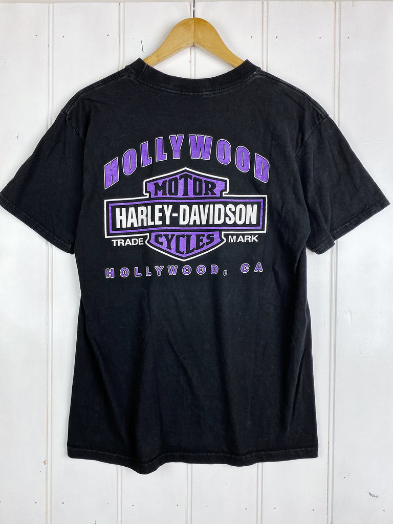 Vintage Harley - Deadstock Hollywood Black Tee - Large
