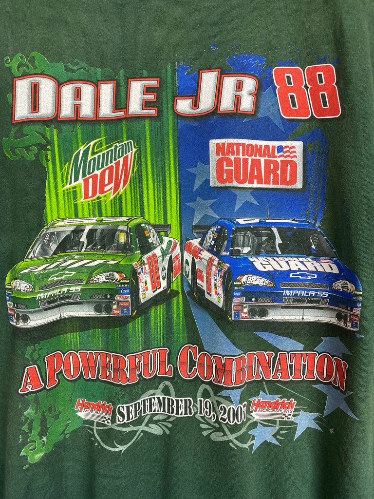 Preloved Nascar - Powerful Combination Green Tee - Large