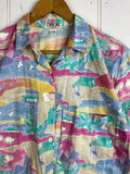 Vintage Party Shirt - Holiday Shirt - Medium