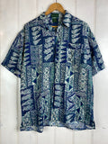 Vintage Party Shirt - Pineapple Pattern Shirt - Large