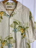 Vintage Party Shirt - Hawaiian flower Shirt - Large