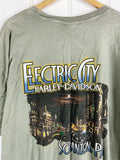 Preloved Harley - Electric City Green Tee - 2XLarge