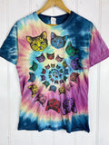 Preloved Animals - Cat Spiral Rainbow Tee - Medium