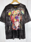 Preloved Animals - Rainbow Dog Black Tee - 2XLarge