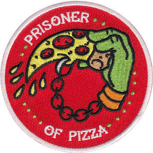 La Barbuda - La Barbuda 'TMNT - Prisoner of Pizza' Iron On Patch - Patches & Pins - Stock & Supply Stores