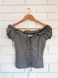 Realizing Dreams Black Gingham Top