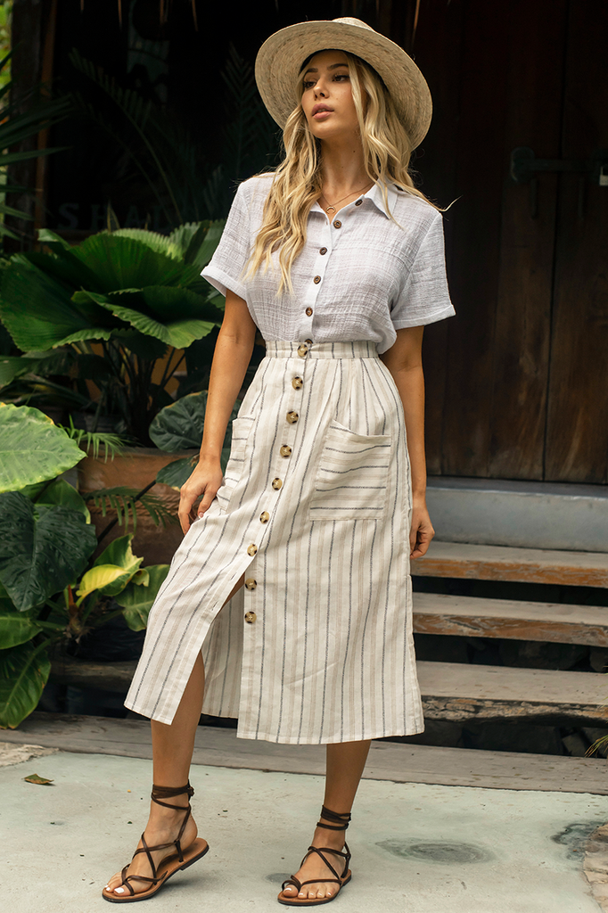 Safari Skirt - Cream