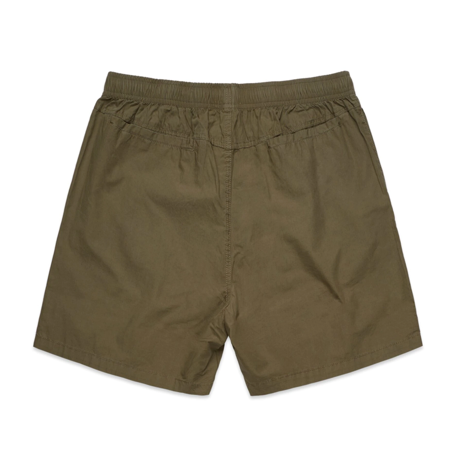 All Day Cotton Beach Short - Army Green