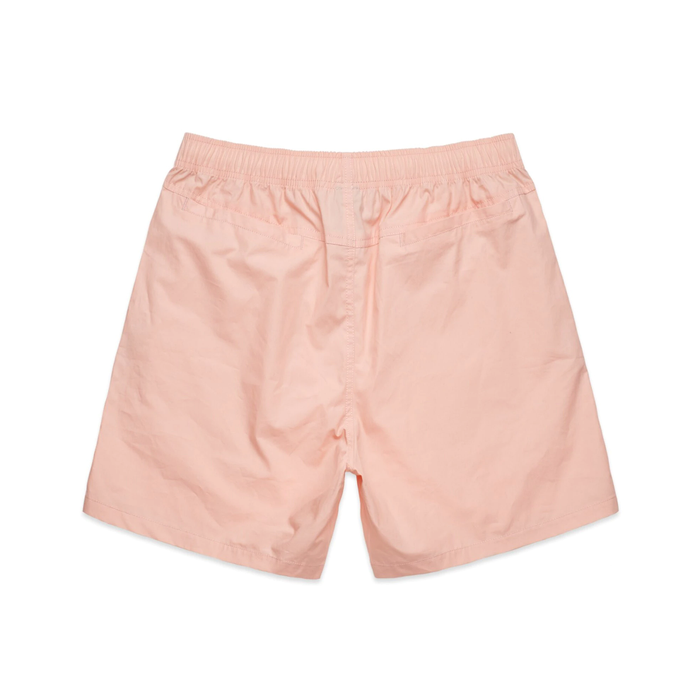 All Day Cotton Beach Short - Pale Pink