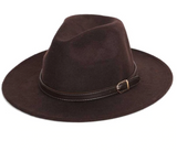 Felt Hat with 1cm Band - Brown