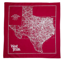 Load image into Gallery viewer, West Texas - West Texas 'State Map' Bandana - Accessories - Stock & Supply Stores