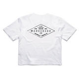 Diamond Crop - White