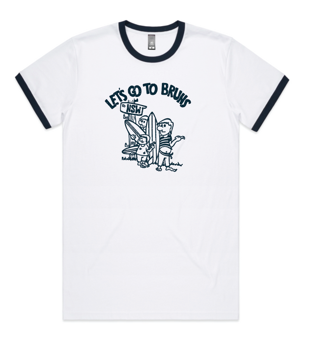 Let's go to Bruns Mens Ringer Tee
