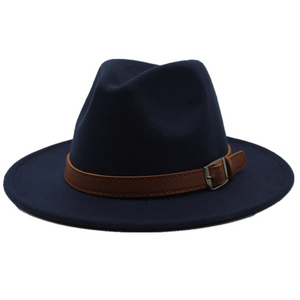 Felt Hat with Band - Navy