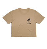 Chill Out Penguin Crop - Tan