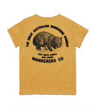Load image into Gallery viewer, Wombat Kids Tee - Mustard