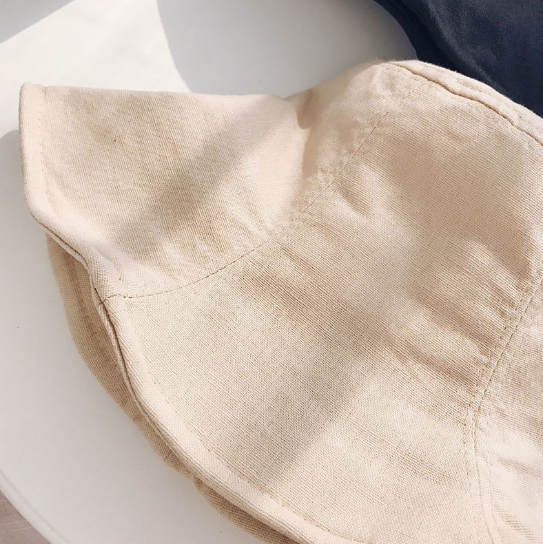 Linen Blend Bucket Hat - Natural