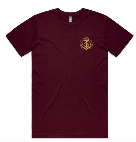 Anchors Tee - Burgundy