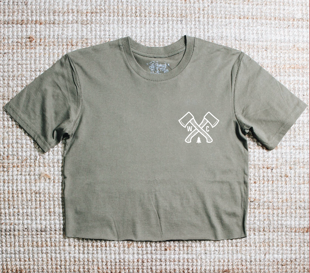 Outdoor Society Crop - Army Green
