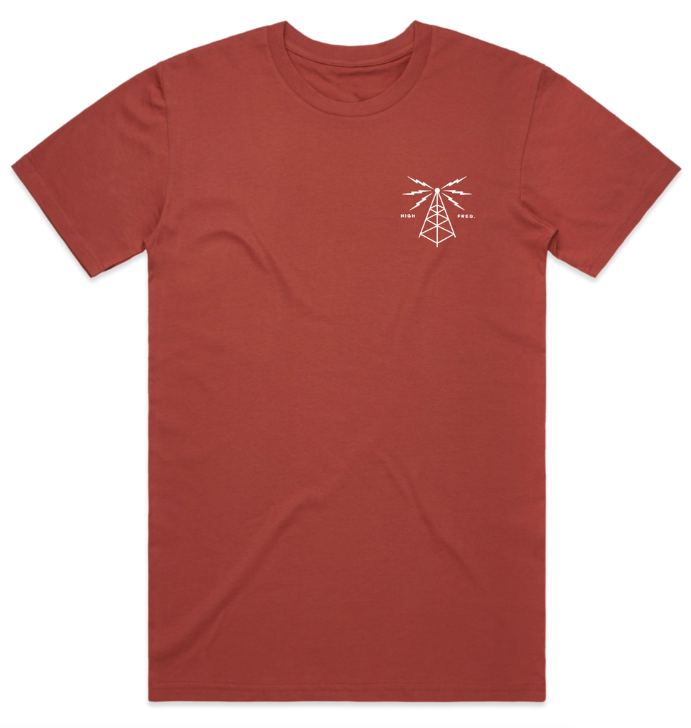 Airwaves T-Shirt - Coral