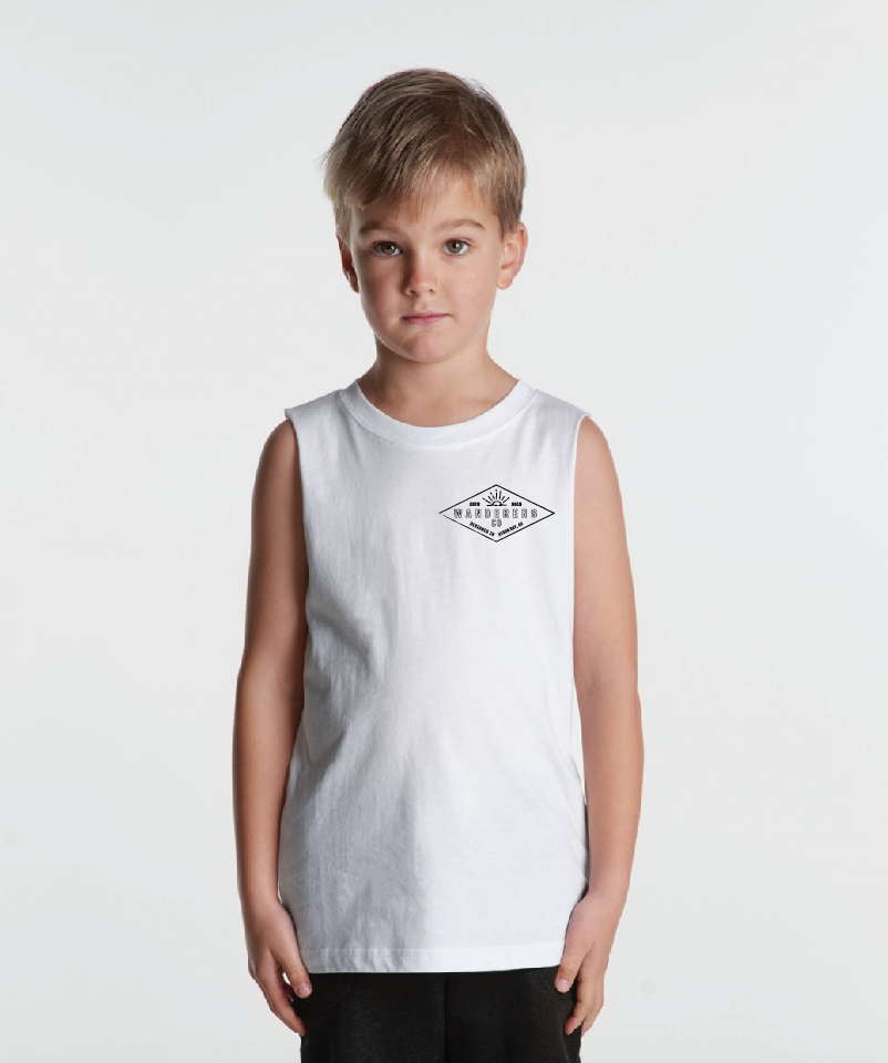 Diamond Kids Muscle Tee - White