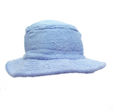Terry Towelling Bucket Hat - Pale Blue