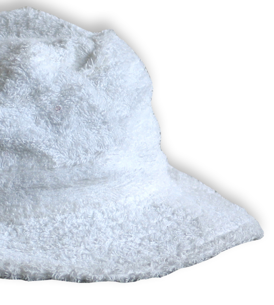 Terry Towelling Bucket Hat - White