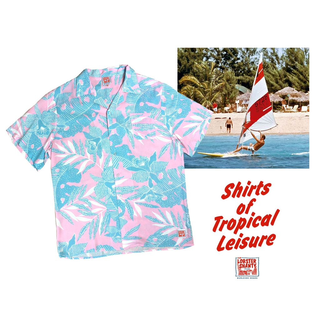 Lobster Shanty - Miami Shore - Rayon Hawaiian Shirt
