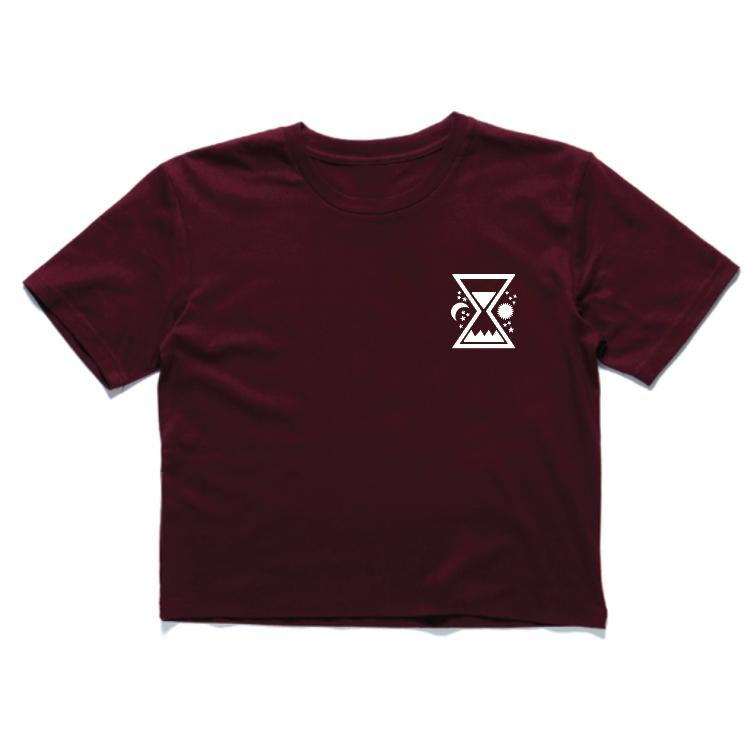 Time & Tide Crop - Burgundy