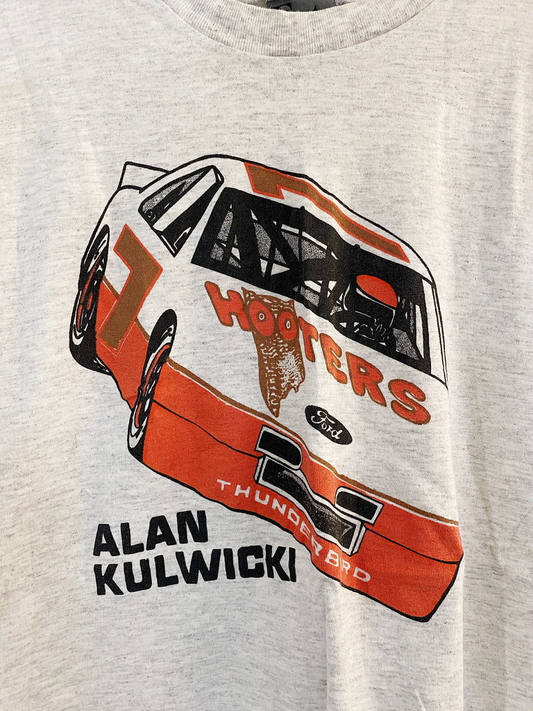 Vintage Nascar - 80s Alan Kulwicki Grey Tee - Medium