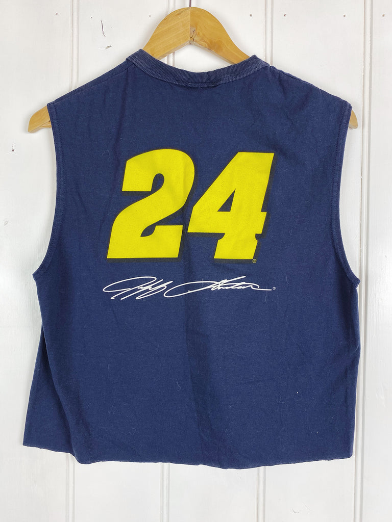 Vintage Nascar - Dupont Jeff Gordon Navy Cropped Singlet - Medium