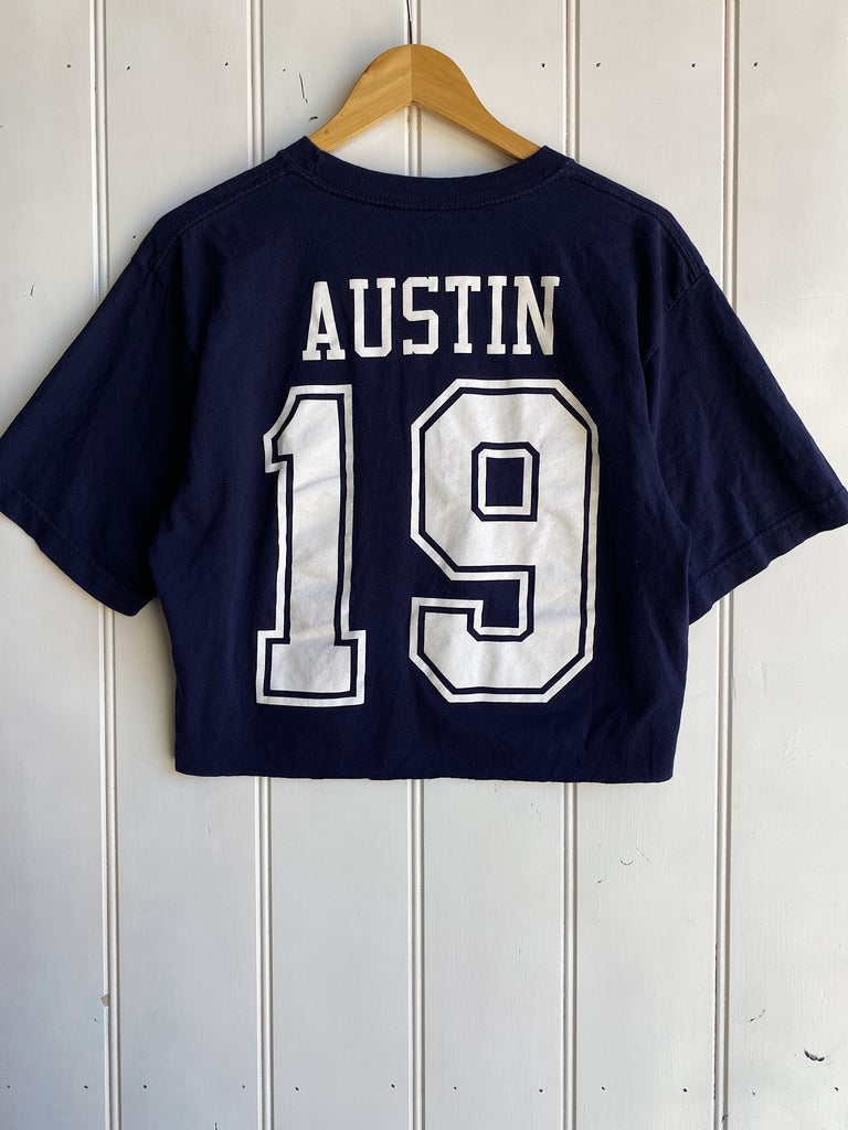 Preloved Sports - Austin Dallas Cowboys Navy Cropped Tee - Large