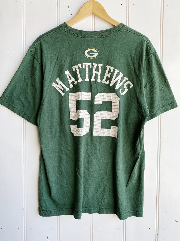 Vintage Sports - Matthews Green Bay Packers Faded Green Tee - Large