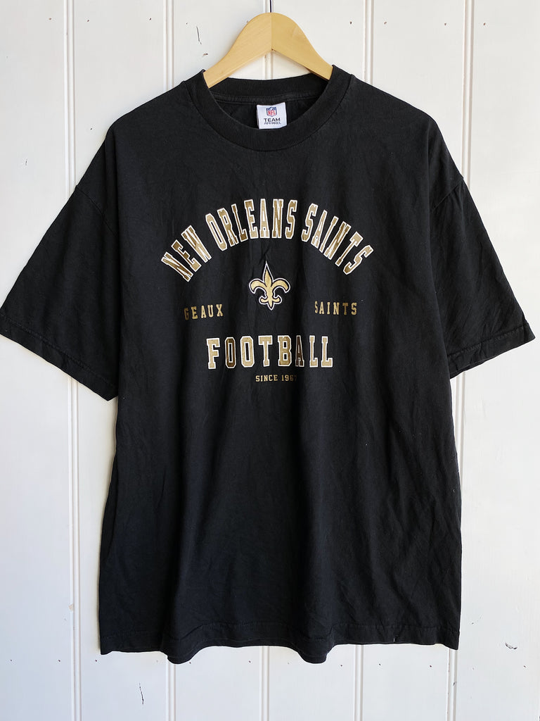 Vintage Sports - Geaux New Orleans Saints Black Tee - Large