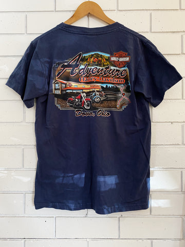 Vintage Harley Adventure Ohio Blue Pocket T-Shirt - Medium