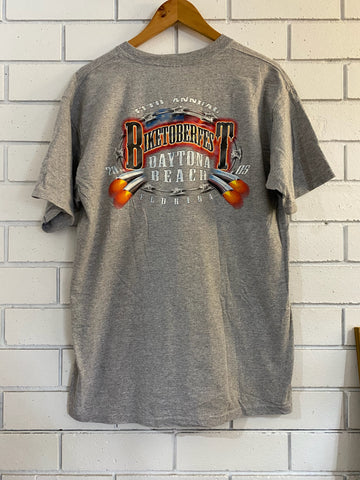 Vintage Harley 13th Biketoberfest Grey Marle T-Shirt - Large