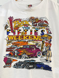 Deadstock Vintage '99 Cruisin Back to the Fifties White Tee - Large