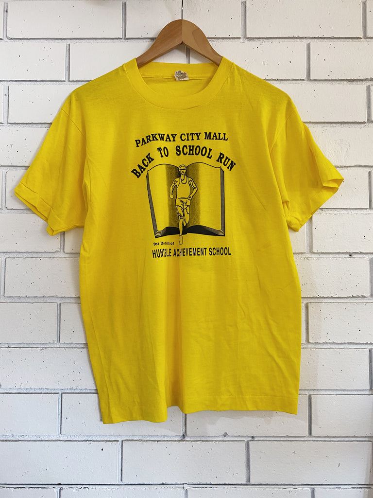 Vintage 50/50 - Back to School Run Yellow Tee - Large